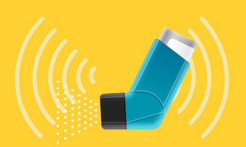 Wireless sensing technology built into an inhaler.